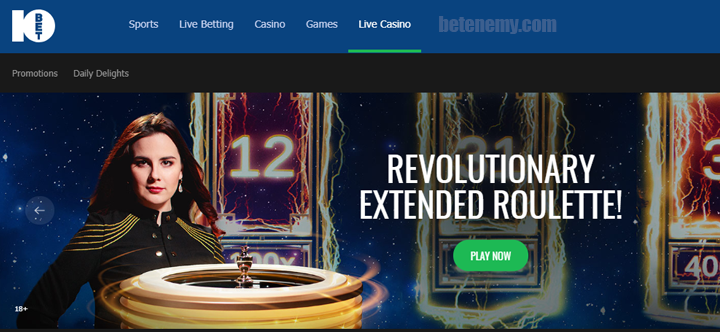 live casino of 10Bet