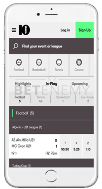 10bet mobile version