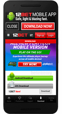 12Bet mobile version thru Android