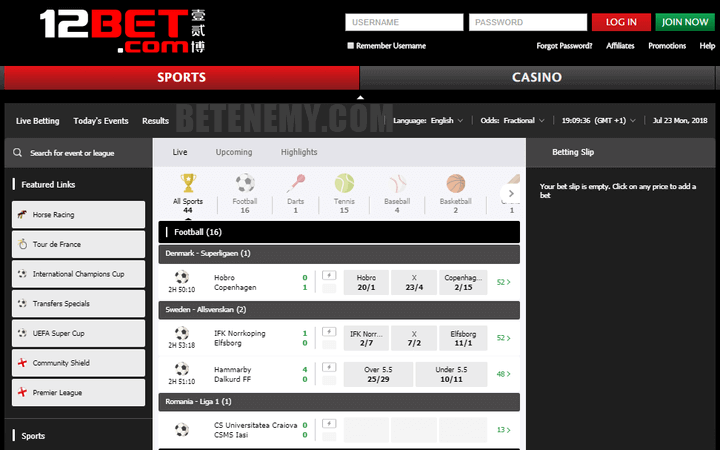 12bet sports page