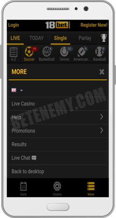 18bet mobile version