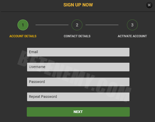 18bet sign up