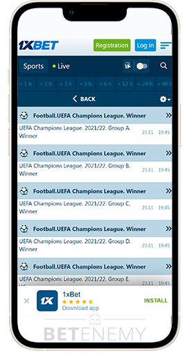1XBET App for Android and iOS - Download and Install 2019
