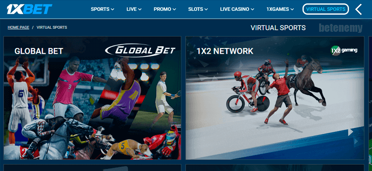 1xbet Virtual Betting - Available Markets & Betting options