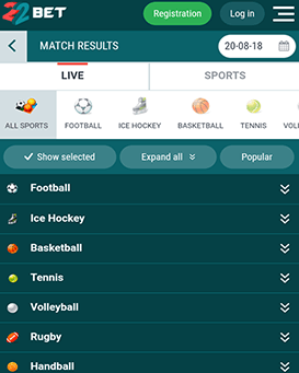 22Bet Mobile App for iOS/Android - Download & Install (2019