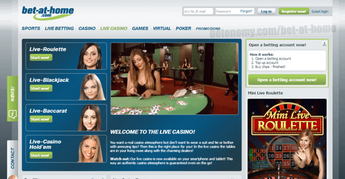 bet at home live casino