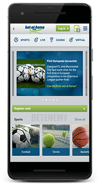 Bet-at-home mobile app for Android