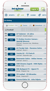 Bet-at-home mobile app for iOS