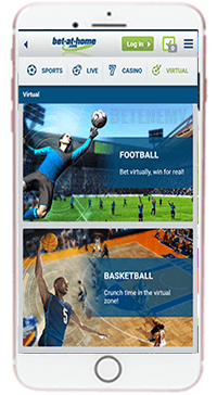 Bet-at-home mobile app for iPhone