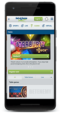 Bet-at-home mobile casino app