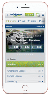 bet at home mobile version