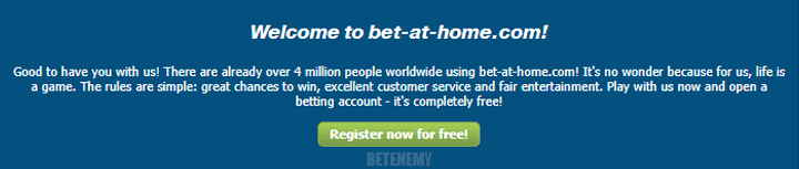 Bet-at-home welcome bonus