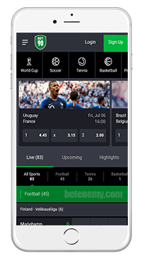 Bet90 mobile version
