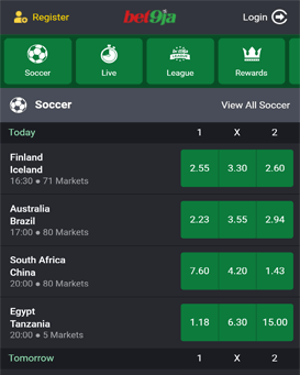 Bet9ja mobile application