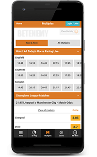 Betdaq mobile app for Android