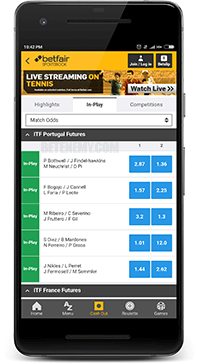 in-play betting at betfair android app