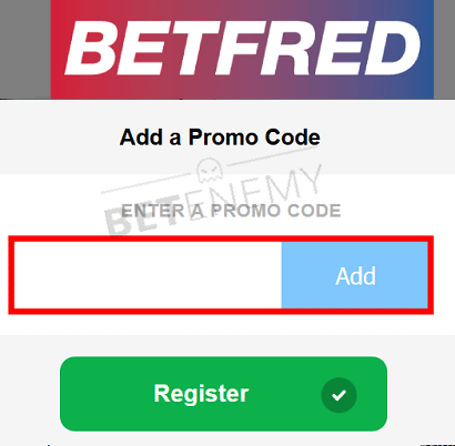 betfred bonus code enter