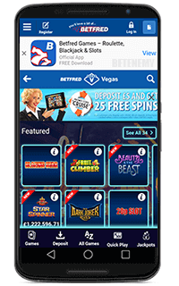 Betfred mobile app for Android