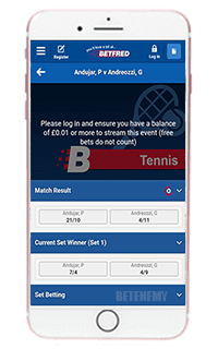 Betfred mobile app for iPhone