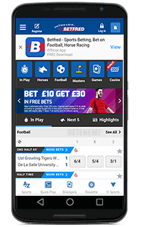Betfred mobile sport betting
