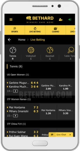 bethard android app live betting