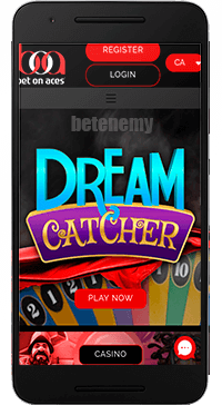 Bet On Aces mobile app thru Android