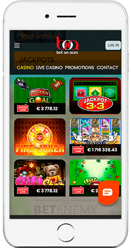 Bet On Aces mobile app thru iPhone