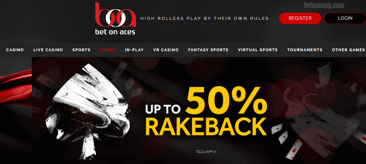 Bet on Aces poker