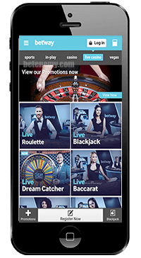 betway live casino on iphone
