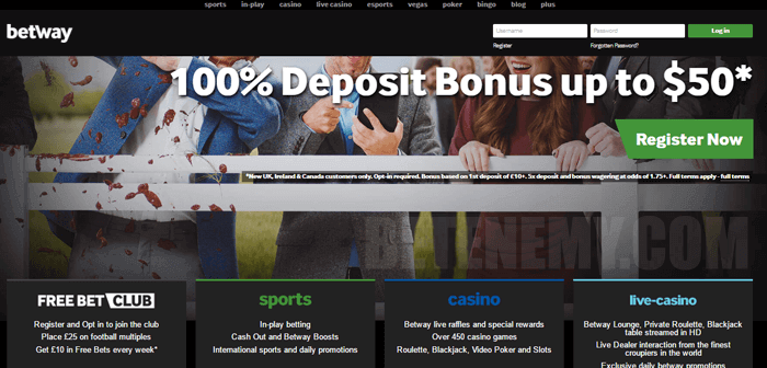 betway website homepage