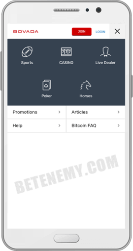 Bovada Mobile Website for Android & iOS devices (2019)