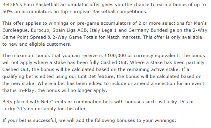 euro basketball bonus bet365