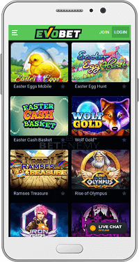 Evobet Mobile App for Android & iOS and Mobile Site Version (2019)
