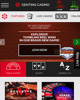 Genting mobile application