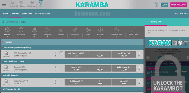 Karamba live betting