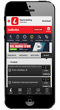 in play section of ladbrokes for ios
