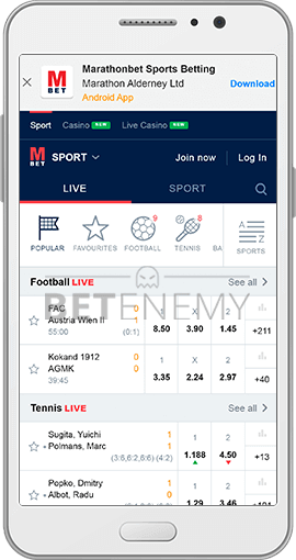 marathonbet mobile version