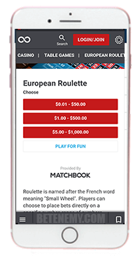 Matchbook mobile app for iphone