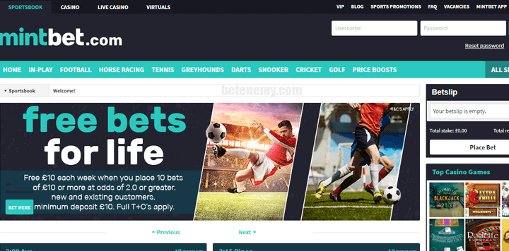 Mintbet website review