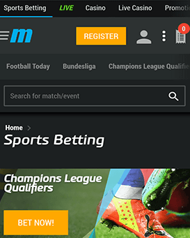 MyBet Mobile Application