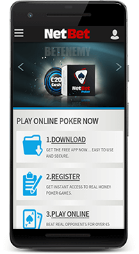 NetBet mobile poker app