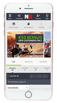 mobile sport in NetBet thru iOS