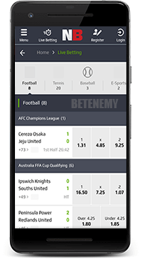 mobile sports betting in NetBet