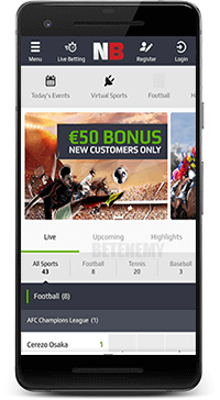 mobile sports in NetBet thru Android