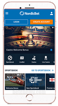 NordicBet mobile version