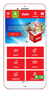 mobile version of OlyBet
