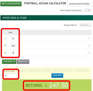 paddypower football calculator
