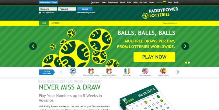 paddypower - lotteries