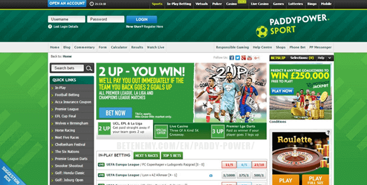 paddypower website review