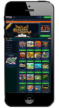 mobile casino section for pinnacle